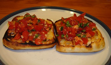 Bruschetta on Bread