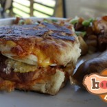 Nenaine Special – Boudin Breakfast Sandwich – Johnsons in Lafayette, Louisiana